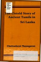 The Untold Story of Ancient Tamils in Sri Lanka PDF