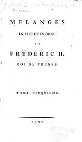 Mélanges en vers et en prose: Volume5