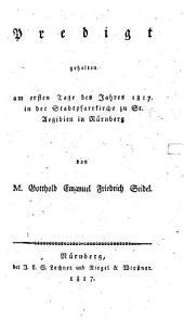 Predigt, gehalten am ersten Tage des Jahres 1817