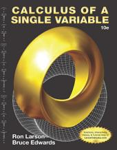 Calculus of a Single Variable: Edition 10