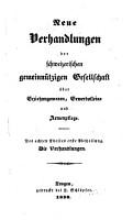 Verhandlungen der Schweizerischen Gemeinn  tzigen Gesellschaft PDF