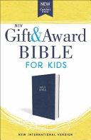 NIV Gift and Award Bible for Kids  Flexcover  Blue  Comfort Print PDF
