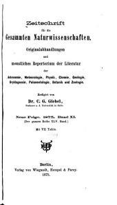 Zeitschrift für Naturwissenschaften: Band 45