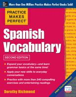 Practice Makes Perfect  Spanish Vocabulary  2nd Edition PDF