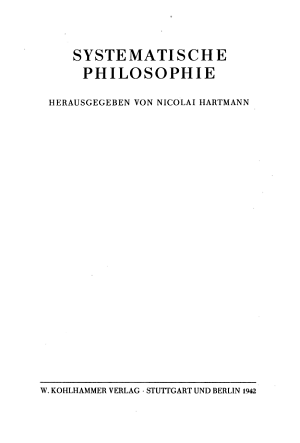 Systematische Philosophie PDF