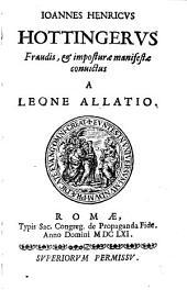 Johannes Henricus Hottingerus fraudis ... convictus