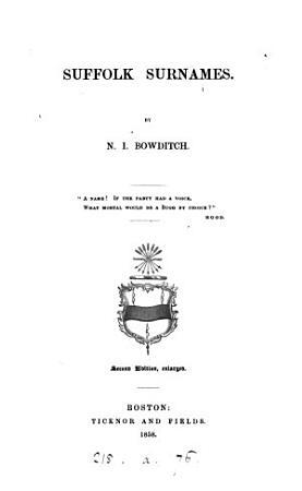 Suffolk Surnames PDF