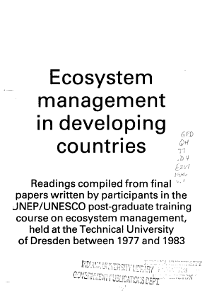 Ecosystem Management in Developing Countries PDF