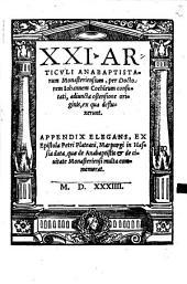 Unus et viginti articuli anabaptistarum Monasteriensium