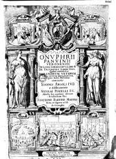 Onuphrii Panvinii,... De triumphis liber unus ...