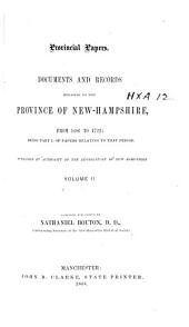 Provincial and State Papers: Volume 2