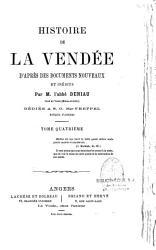 Histoire de la Vend  e d apr  s des documents nouveaux et in  dits PDF