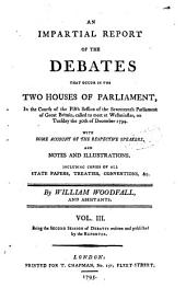 The Parliamentary Register: Or an Impartial Report of the Debates that Have Occured in the Two Houses of Parliament, Volume 3