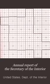 Annual Report of the Secretary of the Interior