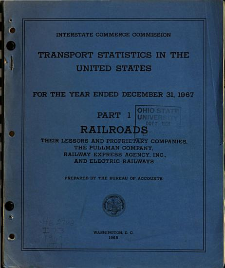 Annual Report on Transport Statistics in the United States for the Year Ended     PDF