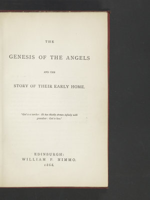 The Genesis of the Angels and the Story of Their Early Home PDF