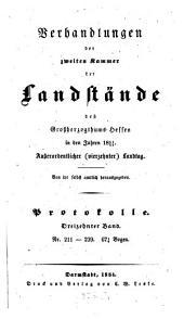Verhandlungen der Zweiten Kammer der Landstände des Großherzogthums Hessen: 1851/54,13