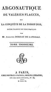 Argonautique de Valérius Flaccus: ou, La conquête de la toison d'or, Volume3