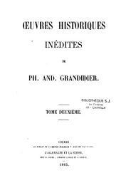 Oeuvres historiques inédites.-(Alsace): Histoire de l'Eglise de Strasbourg, livres VII-XVI, Volume1