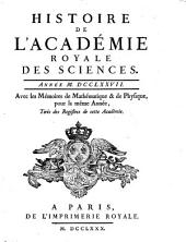 Histoire de l'Académie Royale des Sciences: avec les mémoires de mathématique et de physique pour la même année : tirés des registres de cette Académie. 1777 (1780)