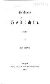 Shakespeares Gedichte. Deutsch von K. Simrock