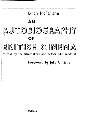 An Autobiography of British Cinema
