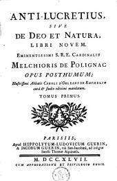 Anti-Lucretius, sive de Deo et Natura, libri novem