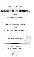 Niels Klims Wallfahrt in die Unterwelt PDF