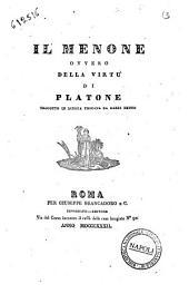 Il Menone ovvero Della virtù di Platone