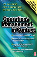 Operations Management in Context PDF