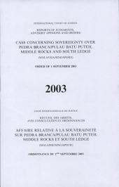 Affaire Relative À la Souveraineté Sur Pedra Branca/Pulau Batu Puteh, Middel Rocks and South Ledge