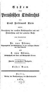 System des Preußischen Civilrechts: Band 1