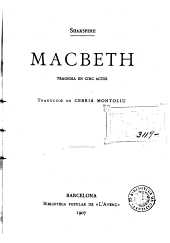 Macbeth: tragèdia en cinc actes