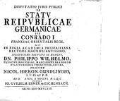 Disp. iuris publ. de statu reipublicae Germanicae sub Conrado I, Franciae Orientalis rege