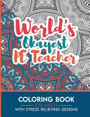 PE Teacher Adult Coloring Book with Stress Relieving Designs - World's Okayest PE Teacher