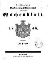 Grossherzoglich Mecklenburg-Schwerinsches officielles Wochenblatt