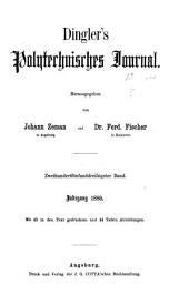 Dingler's polytechnisches Journal: Band 35;Band 235