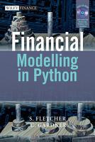 Financial Modelling in Python PDF