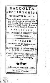 Raccolta Degli Hvomini Piv Illvstri D'Italia