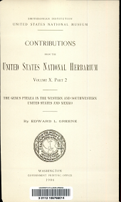 The genus ptelea in the western and southwestern United States and Mexico: Volume 10