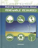 Making Good Choices About Renewable Resources PDF