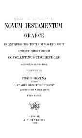 Novum Testamentum Graece: Volume 3