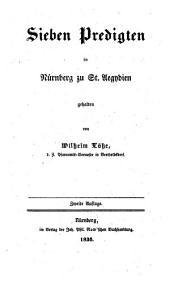 Sieben Predigten in Nürnberg zu St. Aegydien
