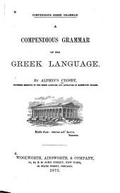 A Compendious Grammar of the Greek Language