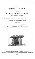 A Dictionary of the Welsh Language  Explained in English PDF