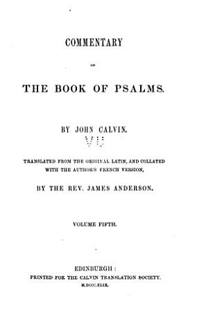 Commentary on the Book of Psalms PDF