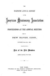 Annual Report of the American Missionary Association: Volumes 40-49