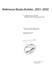 Reference Books Bulletin  2001 2002 PDF