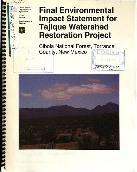 Cibola National Forest (N.F.), Tajique Watershed Restoration Project
