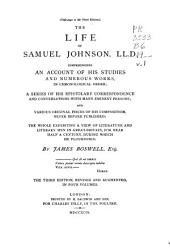 Boswell's Life of Johnson: Including Boswell's Journal of a Tour of the Hebrides, and Johnson's Diary of a Journey Into North Wales, Volume 1